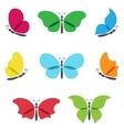 Colorful butterflies logos set vector image vector image