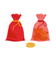 red sack vector image vector image