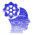 head gear grunge textured icon vector image