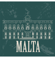 Malta landmarks Retro styled image vector image