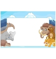 Cartoon collection animal with blank sign vector image vector image