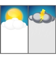 Weather Background with Sun Cloud Rain vector image