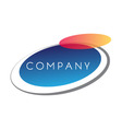 a very modern fresh and trendy logo for your compa vector image