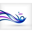Blue abstract wave lines minimal design vector image