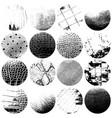 circular grunge textures set03 vector image