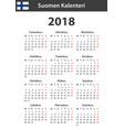 finnish calendar for 2018 scheduler agenda or vector image