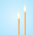 Glowing Candles vector image