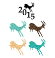goats - chinese 2015 year vector image