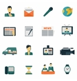 News icons flat vector image