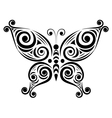 Ornamental butterfly 2 vector image
