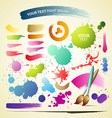 Paint brush colorful watercolor collections backgr vector image