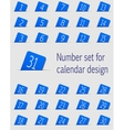 Set of calendar icons with numbers vector image