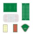 Set of sport fields vector image