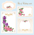 Set of Wedding Greeting Invitation cards vector image