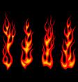 Tribal tattoo flames set for fantasy design vector image