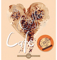 Watercolor coffee shop design element vector image