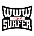 WWW surfer t shirt graphics vector image