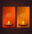 shubh diwali vertical banners set vector image