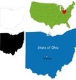 Ohio map vector image vector image