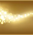 Golden Festive Lights Background vector image