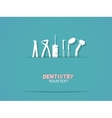 Background with dentistry tools vector image