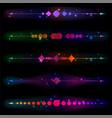 Glittering design elements vector image