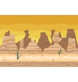 Seamless Desert Road Cactus Nature Concept Flat vector image