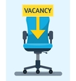 Office workplace chair vector image