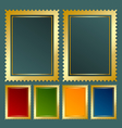 Golden stamp vector image
