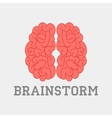 Brainstorm think idea vector image