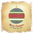 christmas ball card design vector image