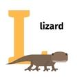 English animals zoo alphabet letter L vector image