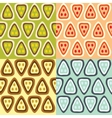 four patterns vector image