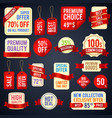 holiday sale ribbon banners and sticker badges vector image
