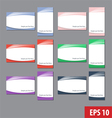 Namecard templates colorful set vector image