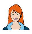 portrait beautiful woman face smiling vector image