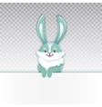 Smiling cartoon rabbit Funny bunny Cute hare vector image