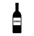 Vodka bottle icon vector image