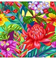 Seamless pattern with Thailand flowers Tropical vector image