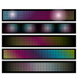 Set of LED lights background banners vector image vector image