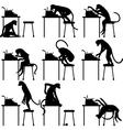 Typing monkeys vector image vector image
