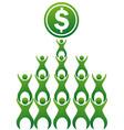 teamworks making money vector image vector image
