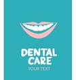 Dental care design concept vector image vector image