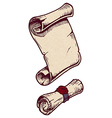 Old scroll vector image