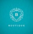 Monogram flourishes logo vector image vector image