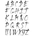 Hand written calligraphic ink alphabet vector image