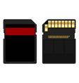 secure digital memory card vector image vector image