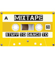 Vintage mixtape cassette with name on it vector image