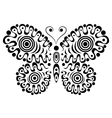 Ornamental butterfly 3 vector image