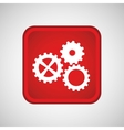 gears in the square button isolated icon design vector image